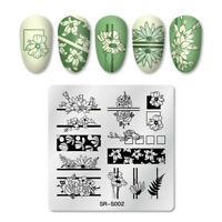 Nail Art Stamping Plates Flower Image Stamp Templates Manicure Stencils Flower
