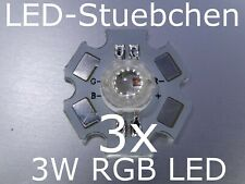 3x 3w RGB LED 4-pin ca (3x1w) 350 ma