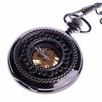 Steampunk Pocket Watch Mechanical Skeleton Hand Wind Up Retro Reloj de Bolsillo