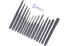PRO Punch & Chisel Set 16 Pc Cold Chisels Cente Pin Taper Parallel