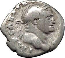 VESPASIAN Ancient Silver Denarius Roman Coin Sacrificial implement  i45593