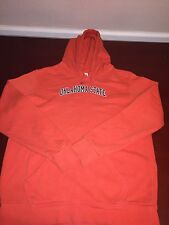 NIKE Oklahoma State Women's Hoodie Orange And Black Size L 12-14