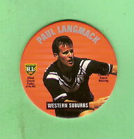 1995 NSW RUGBY LEAGUE TAZO #32  PAUL LANGMACK , WESTERN SUBURBS MAGPIES