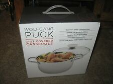 New listing Wolfgang Puck 5 Quart Covered Dutch Oven New In Sealed Box