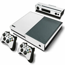 Xbox One White Carbon Fiber Skin Sticker Decals Console and Controllers XBOX1