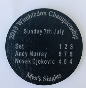 Slate Coaster For 2013 Wimbledon Final Men's Singles Andy Murray Win