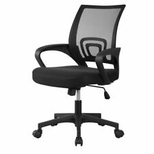 Black Executive Ergonomic Mesh Computer Office Desk Task Midback Chair