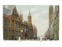 Antique colour printed postcard Victoria Law Courts Birmingham Hartmann