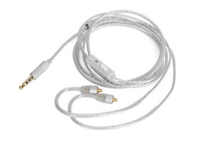 Silver Audio Cable With mic For FiiO F5 F9 F9SE F9Pro FH1 FH5 FA7 FA1 FH7 EARPHO