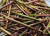 """(100) Hex Head 1/4-20 x 4"""" Grade 8 Bolts Yellow Zinc Cap Screws"""