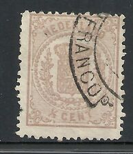 Netherlands 1869 NVPH 13 spectacular Plate ERROR 1/3 instead of 1/2  CANC  F/VF