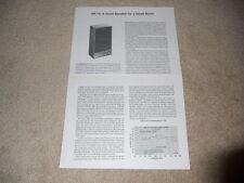 Acoustic Research AR-15 Speaker Review, 2 pg, 1978, Full Test