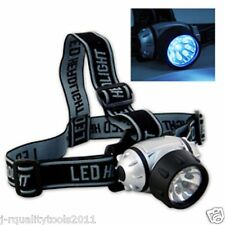 HANDS FREE MINER'S HEAD LAMP LIGHT CAP BAND FLASHLIGHT
