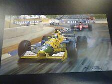 1991 Spanish GP, Barcelona, Benetton Michael Schumacher door Michael Turner