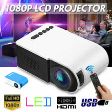 7000 Lumens 1080P Mini LED 3D Projector Home Cinema Theater Video Multimedia USB