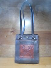 American West Handbag Purse Shoulder Bag Tooled Leather Western Cowboy Brands