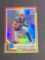 N'KEAL HARRY #169 2019 Donruss Optic RED YELLOW PRIZM RATED ROOKIE RC PATRIOTS