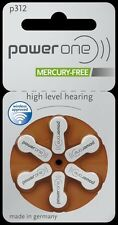 PowerOne Power One Stainless Steel Mercury Free Hearing Aid Batteries Size 312
