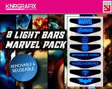KNR6902 MARVEL BATMAN PACK OF 8 LIGHT BARS - PS4 DUALSHOCK 4 PLAYSTATION BAR