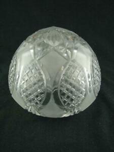 LOVELY  CRYSTAL AND ETCHED GLASS GLOBE / BOWL LAMP SHADE