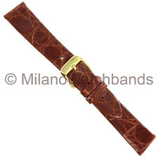 19mm deBeer Prestige Collection Genuine Crocodile Havana  Unstitched Watch Band