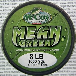 McCoy Fishing Line CoPolymer BULK Spool Mean Green 8LB Test