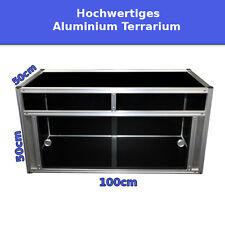 ☼ TOP Hochwertiges Aluminium Terrarium 100x50x50cm 4mm Glas