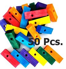 Wood Wooden Blocks Bird Parrot Cage Parts for Bird Toys Multi Colors