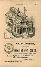 1876 ADVERT Indiana State Building Centennial Exposition Philadelphia Godfrey