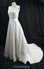 Jasmine Haute Couture Portrait Wedding Gown Ivory bride train dress 12 NWT $1800