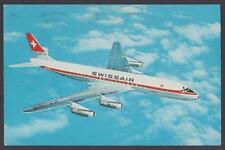 cartolina SWISSAIR DC-8 JET