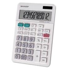 Sharp El-334W El-334w Large Desktop Calculator, 12-digit Lcd (el334w)