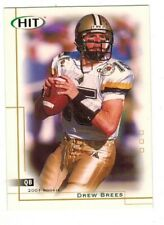 DREW BREES 2001 Sage HIT Football ROOKIE Card #15 RC Future HOFer PURDUE SAINTS