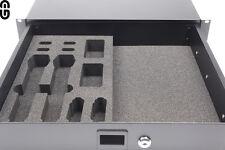 """Shure AD1/2 / QLX-D / ULX-D 2er Set Inlay für 19"""" 2HE Schublade; foam inlay"""