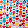 BonEful Fabric Cotton Quilt White Blue Pink Heart Polka Dot Girl Stripe US SCRAP