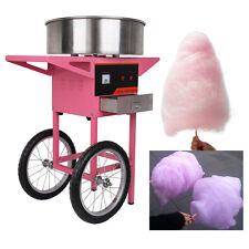 Commercial Candy Floss Making Machine Cart Pink Cotton Candyfloss Maker Party
