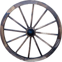 "Rustic Wood Wagon Wheel W/ Hub 30"", Natural Outdoor Home Garden Yard Décor Buggy"