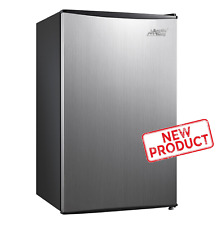 Small Fridge Food Refrigerator Compact 3.3 cu ft Kitchen Home Stainless Steel
