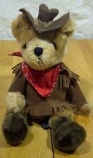"Russ Remington Cowboy Bear 9"" Plush Stuffed Animal"
