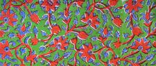 Indian Hand Block Print Pure Cotton Fabric Sanganeri Running New Craft 3 Yard