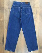 Vintage LL Bean Womens Blue Jeans High Waist Loose Fit 100% Cotton Size 12 M/T