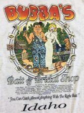 Vintage Tee Shirt Size Large Bubba's Bait & Bridal Shop  1994