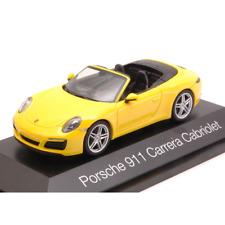 PORSCHE 911 CARRERA CABRIOLET 2016 YELLOW 1:43 Herpa Auto Stradali Die Cast