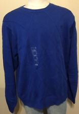 IZOD Royal Blue 100% Cotton Pullover Crewneck Crew Sweater Men's XXL NWT $60