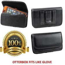 Leather Holster ClipTo Fit Samsung Galaxy Note 2/3/4/5 Otterbox Defender Case