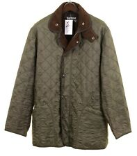 Barbour Polarquilt Long Green Quilted Insulated Flannel Lined Jacket L