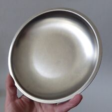 More details for mid century danish satin stainless steel dish/tray. vintage modernist denmark