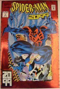 SPIDER-MAN 2099 1 MARVEL RED FOIL COMIC SPIDER-VERSE DAVID LEONARDI 1992 NM
