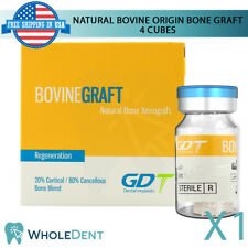Natural 4 Cubes Bone Bovine Origin Material Sterile Dental Implant 5x5x5mm