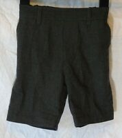 Boys F&F Dark Charcoal Grey Adjustable Waist School Shorts Age 3-4 Years